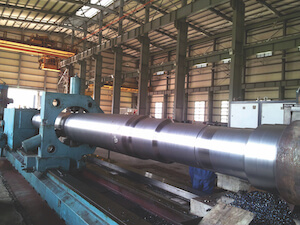 Cement rolling shaft machinin