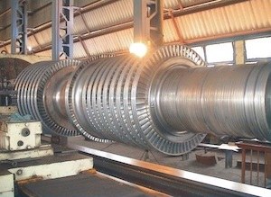 Repairing Rotor Shaft of steam turbine on SUT 160