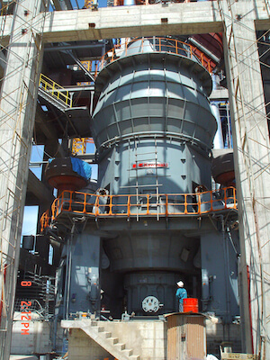 Cement vertical raw mill housing
