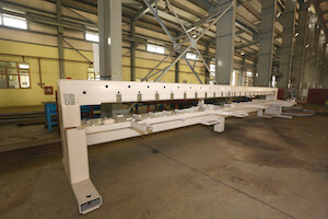 Automatic embroidery machine frame